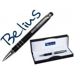 Boligrafo marca Belius Minsk con puntero pantallas tactiles negro estuche