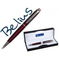 Boligrafo marca Belius Aberdeen lacado rojo estuche