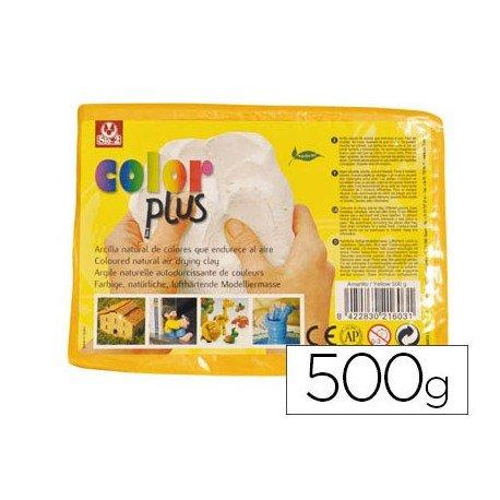 Arcilla marca Sio-2 color amarillo 500 g