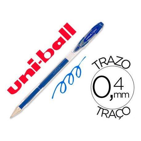 Boligrafo marca Uni-Ball roller UM-120 signo azul