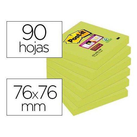 Bloc de Post-it ® 76 x 76 mm color verde 90 hojas