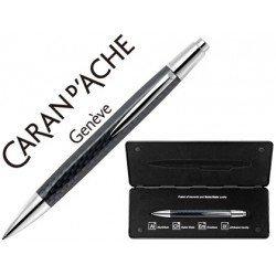 Boligrafo marca Caran d'ache Alchemix fibra carbono estuche
