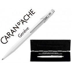 Boligrafo marca Caran d'ache 849 Pop line blanco estuche