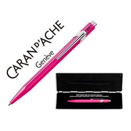 Boligrafo marca Caran d'ache 849 Pop line fucsia fluor estuche