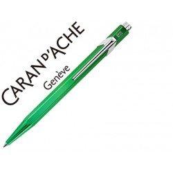 Boligrafo marca Caran d'ache 849 metalizado verde