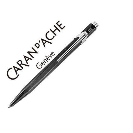 Boligrafo marca Caran d'ache 849 metalizado negro