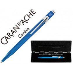 Boligrafo marca Caran d'ache 849 Pop line metalizado azul estuche