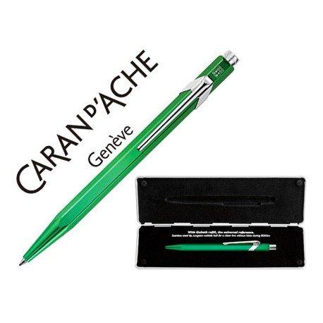 Boligrafo marca Caran d'ache 849 Pop line metalizado verde estuche