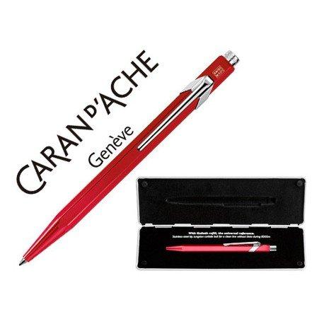 Boligrafo marca Caran d'ache 849 Pop line metalizado rojo estuche