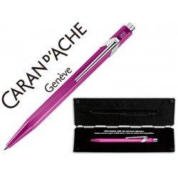 Boligrafo marca Caran d'ache 849 Pop line metalizado violeta estuche