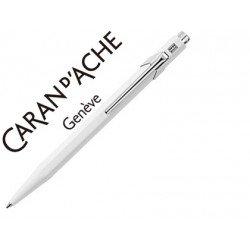Boligrafo marca Caran d'ache 849 blanco