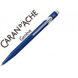 Boligrafo marca Caran d'ache 849 azul zafiro