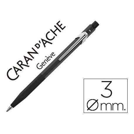 Portaminas marca Caran d'Ache Fixpencil negro caucho 3mm