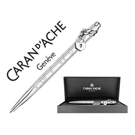 Boligrafo marca Caran d'ache Ecridor Mademoiselle placado paladio estuche