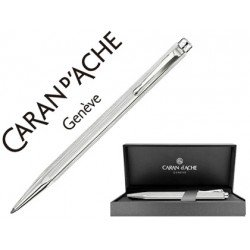Boligrafo marca Caran d'ache Ecridor Graind'orge plata maciza estuche