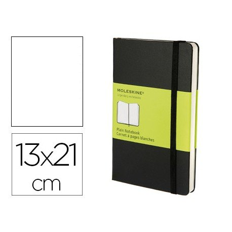 Libreta Moleskine tapa dura liso color negro 13x21 cm