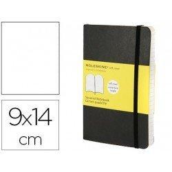 Libreta Moleskine tapa blanda liso color negro 9x14 cm