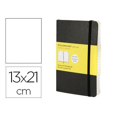 Libreta Moleskine tapa blanda liso color negro 13x21 cm
