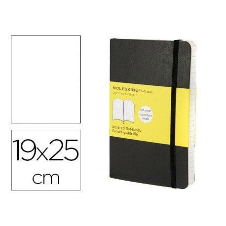 Libreta Moleskine tapa blanda liso color negro 19x25 cm