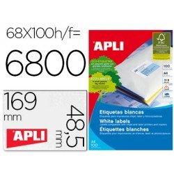 Etiquetas adhesivas Apli 01282 tamaño 48,5x169 mm caja de 100h