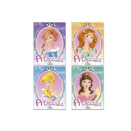 Cuaderno para colorear Princesas glitter 16 páginas (NO SE PUEDE ELEGIR)