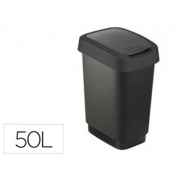 Papelera Offisys plastico de 50 litros