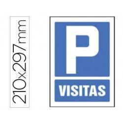 Señal marca Syssa parking visitas