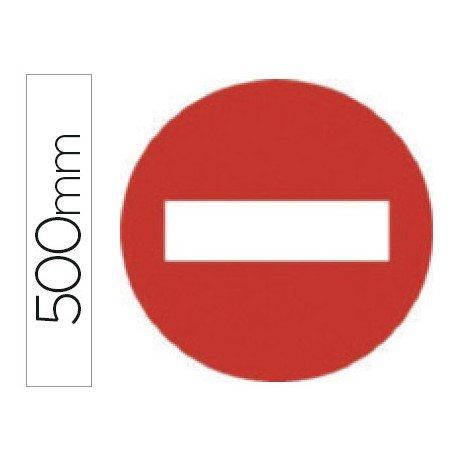 Señal vial marca Syssa entrada prohibida