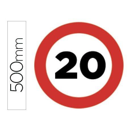 Señal vial marca Syssa velocidad maxima 20
