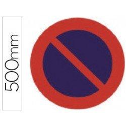 Señal vial marca Syssa estacionamiento prohibido