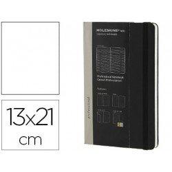 Libreta Moleskine profesional color negro13x21 cm
