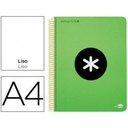 Bloc Antartik A4 Liso tapa Plástico 100g/m2 Verde 5 bandas color