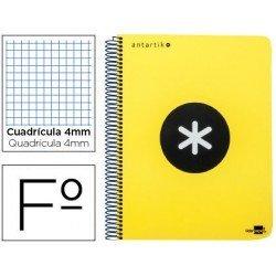 Bloc marca Liderpapel Folio Antartik Cuadricula 4 mm amarillo