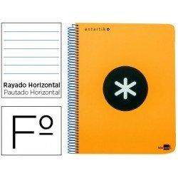 Bloc marca Liderpapel Folio Antartik Rayado Horizontal naranja