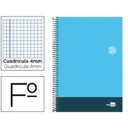 Bloc Liderpapel serie Discover folio cartoncillo cuadricula 4 mm color celeste