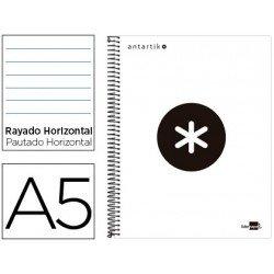 Bloc Antartik Folio Rayado Horizontal tapa forrada 100g/m2 Blanco