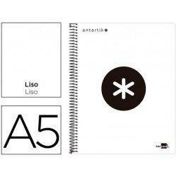 Bloc Antartik A5 Liso tapa Forrada 100g/m2 Blanco 5 bandas color