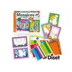 Juego didáctico Mosaicos con pegatinas a partir de 3 años Diset