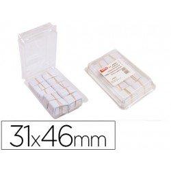 Etiquetas colgantes Apli 31 x 46 mm textil caja de 1000 unidades