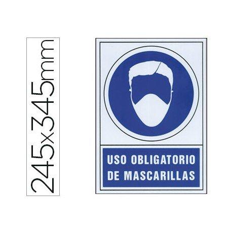 """Señal Marca Syssa """"Uso obligatorio de mascarillas"""""""