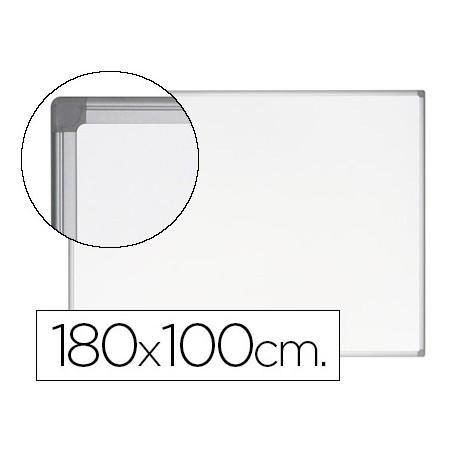 Pizarra Blanca Vitrificada Magnetica Earth-it con marco de aluminio 180x120 Bi-Office
