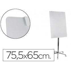 Pizarra Blanca Vitrificada Magnetica Móvil con ruedas 75,5x65 cm Bi-Office