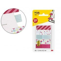 Banderitas separadoras marca POST-IT decoradas 11,9 x 43,20 mm 100 unidades
