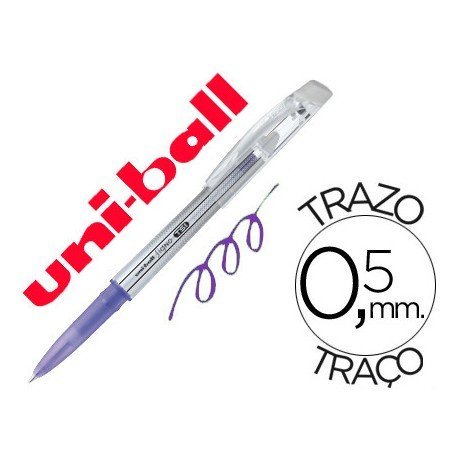 Bolígrafo Borrable roller gel UF-220 color violeta 0,5 mm