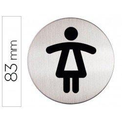 Señal Marca Durable WC Mujer