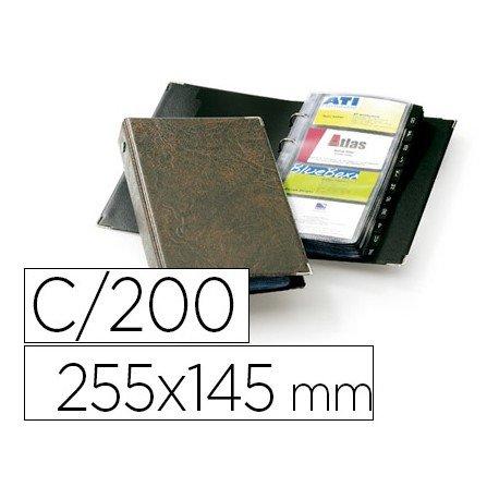 Tarjetero Durable polipropileno color marron 57x90mm