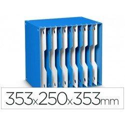 Archivador modular Cep poliestireno 12 casillas color azul/blanco 353x250x353 mm