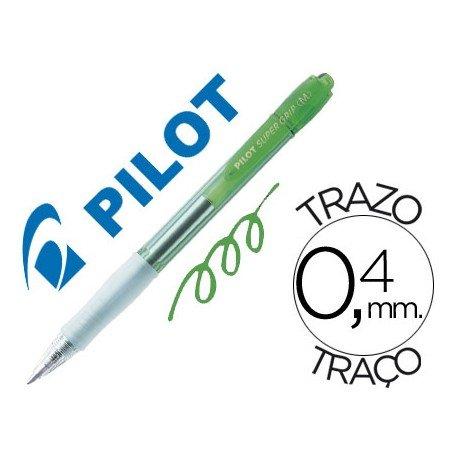 Boligrafo Pilot Super Grip color verde neon