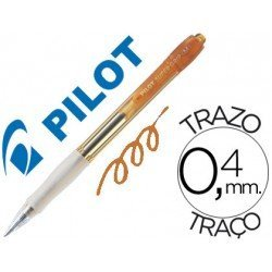 Boligrafo Pilot Super Grip color Naranja neon 0,4 mm