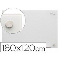 Pizarra Blanca Cristal Magnetica soportes invisibles 188x120 cm Nobo